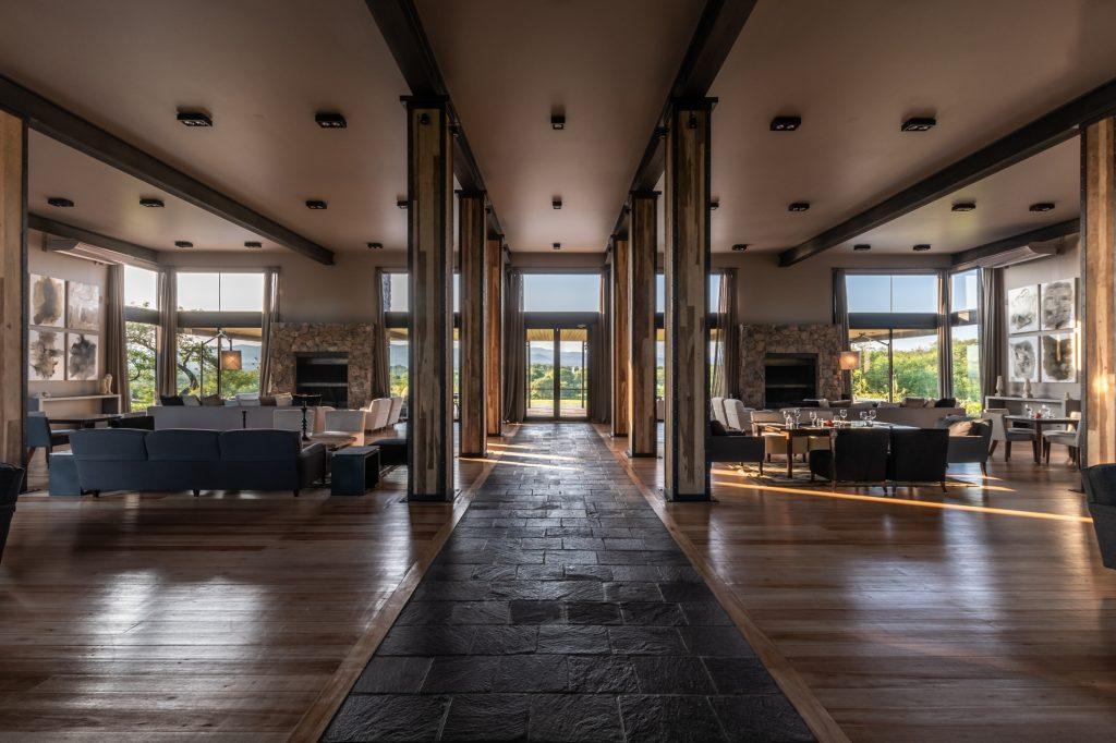interior del restaurante de El Terrón en el programa Argentina Golf Destination